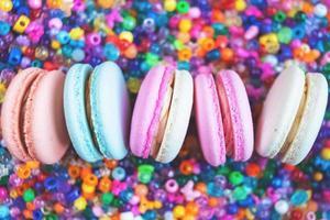 néon, macarons franceses foto
