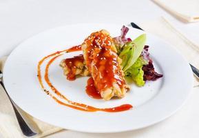 deliciosa receita de frango frito picante foto