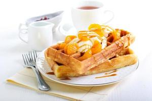 waffles com sorvete foto