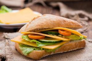 sanduíche de queijo cheddar foto