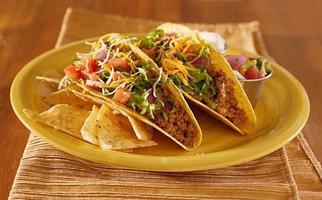 tacos de carne mexicana foto