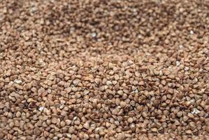 textura de trigo sarraceno cru foto