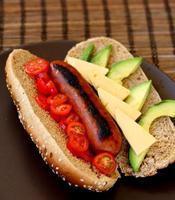 cachorro-quente gourmet foto