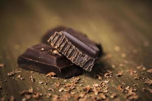 chocolate escuro belga foto