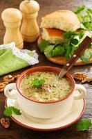 kharcho sopa de carne com nozes e arroz. cozinha georgiana. foto