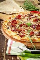 pizza de forno a lenha