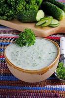 sopa de pepino foto