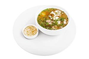 sopa de galinha com molho