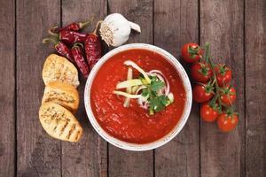 sopa de gaspacho foto