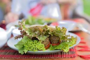 sanduíche vegetariano foto