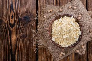 porção de farinha de grão de bico