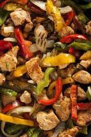 fajitas de frango caseiro com legumes