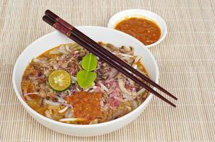 cozinha asiática: johor laksa foto
