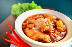 frango com batata em curry em pó foto