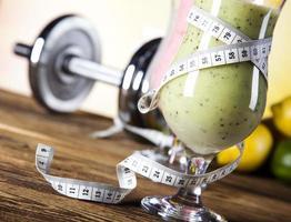 shakes de proteína, esporte e fitness foto