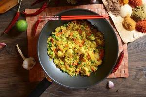 arroz nasi goreng foto