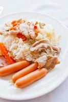 caril de comida tailandesa com arroz foto
