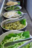 legumes para aletria tailandesa comidos com curry foto