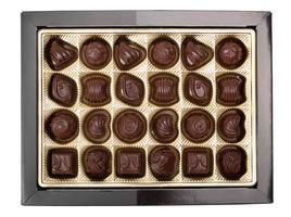 caixa de bombons de chocolate foto