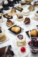 buffet de pastelaria italiana