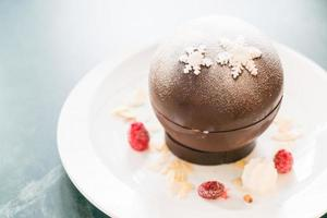 bola de natal de chocolate foto