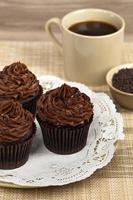 cupcakes de chocolate foto