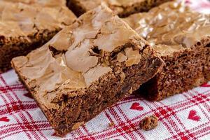 brownies de pedaços de chocolate caseiros