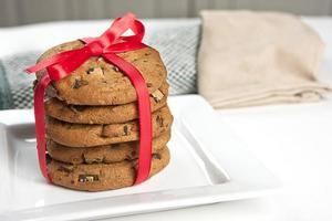 pilha de biscoitos.