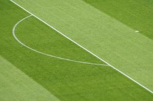 marcações de campo de futebol de futebol foto