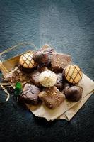 biscoitos de chá de chocolate