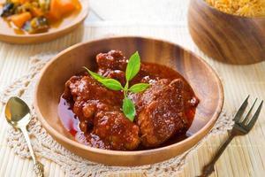 arroz indiano de biryani de frango foto