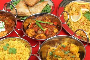 refeição de curry indiano foto