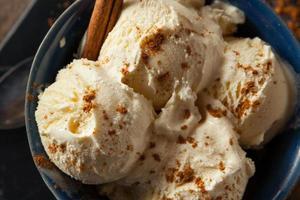 sorvete caseiro de gemada caseira foto