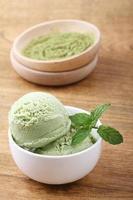 sorvete de chá verde foto