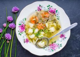 sopa de pepino fresco foto