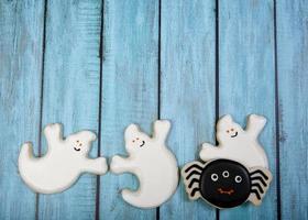 biscoitos do dia das bruxas foto