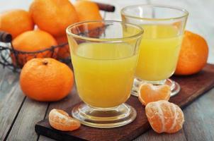 suco de tangerina foto