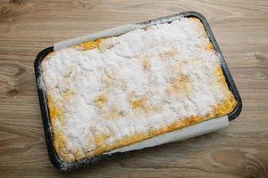 torta de maçã caseira - fresca do forno