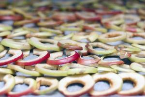 secagem de fatias de maçã
