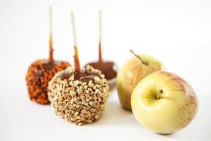 maçãs caramelo foto