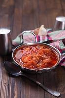 sopa de legumes apetitosa fresca foto