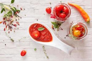 geléia de tomate foto