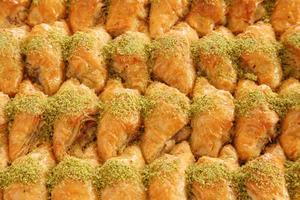 baklava de sobremesa turca foto
