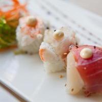 seleção de sushi foto