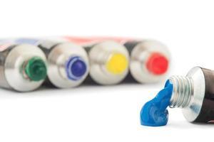 tubos de têmpera foto