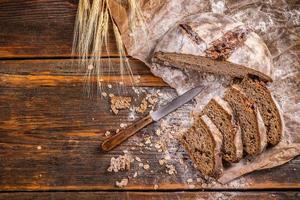 pão artesanal foto