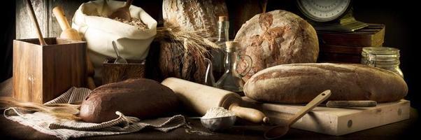 pães artesanais foto