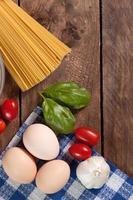 ingredientes para preparar uma refeição.