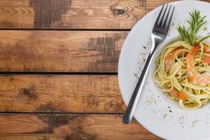 comida, jantar, macarrão foto