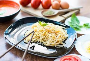 jantar de espaguete foto